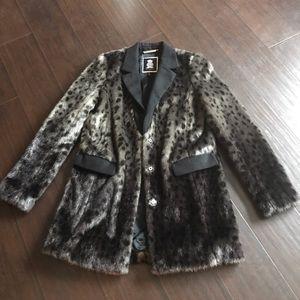 Juicy Couture Faux Fur Leopard Blazer